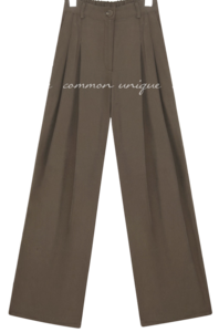 ELISH CUPRA BANDING WIDE PANTS