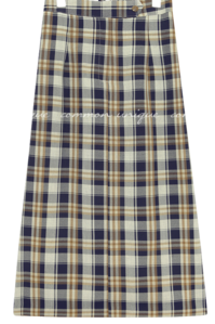 PRAV CHECK BANDING LONG SKIRT