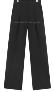 MONKA PINTUCK SLIT WIDE SLACKS