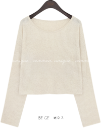 Wide Neck Knit Top