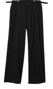 Wrinkle Buckle Wide Pants