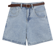 Contrast Stitch Belted Shorts