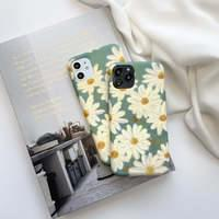 Oil Painting Daisy Flower Silicone iPhone Case