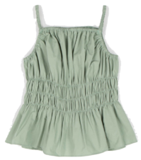 Jerry Shirring sleeveless blouse