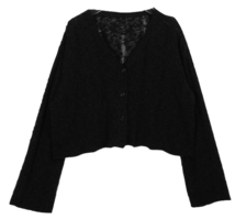 Cropped blur knit cardigan