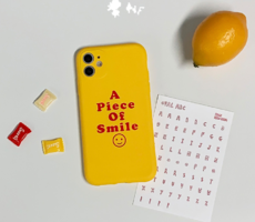 Smile Yellow Jelly Matte iPhone Case