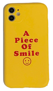 Smile Yellow Jelly Matte iPhone Case 手機殼