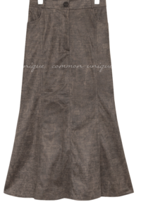 VINTAGE COATING LONG SKIRT