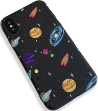 Space Planet Matte iPhone Case