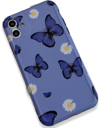 Vintage Purple Butterfly Matte iPhone Case