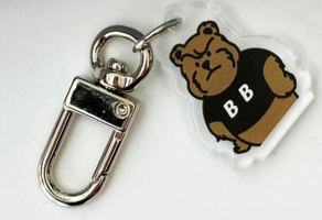 Angry BB Bear Bear Airpod Key Chain Acrylic Keyring