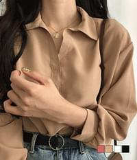 Roche simple collar blouse