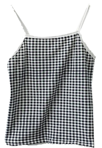 Abang Check Square Color Strap Sleeveless