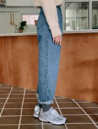 Vintage Faded Semi Baggy Denim Pants