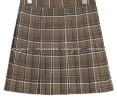 RUNY CHECK PLEATS MINI SKIRT
