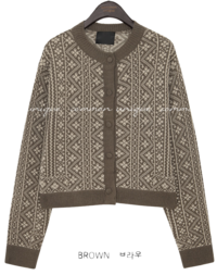 TEIDY PATTERN KNIT CARDIGAN