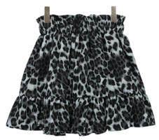 Leopard-time mini skirt