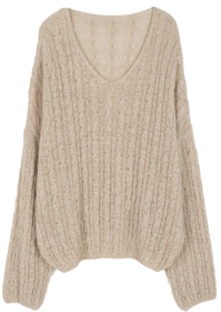 Days twist V-neck knit