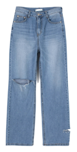 Neutro Damage Straight Jeans