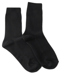 ribbed long ankle socks