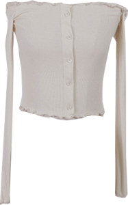 Buttoned chime cropped T-shirt
