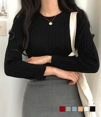 Together Cable Round Neck Knit