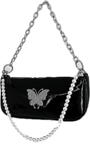 Butterfly pearl shoulder bag