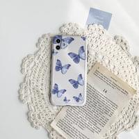 Blue Butterfly Vintage Matte Jelly iPhone Case