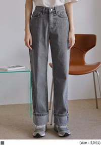 Folded-Up Cuff Jeans