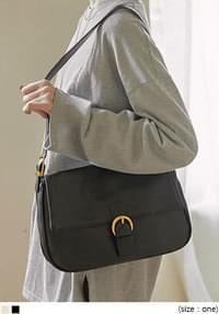 Buckled Flap Top Shoulder Bag