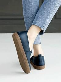 Steamed leather loafers 2cm