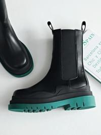 Latex Chelsea Middle Boots 5cm