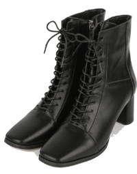 Modic lace-up middle-heel ankle boots