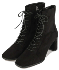 Modic lace-up middle-heel ankle boots 靴子
