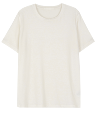 Bowl wool round-neck half T-shirt