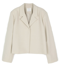 Marang one-button cropped single jacket