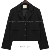 Boxy Three-Button Front Jacket