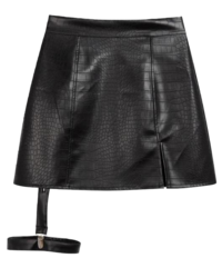 HIDE Leather Garter Skirt