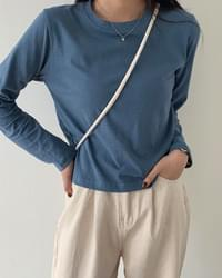 Daily pastel cropped long-sleeved T-shirt