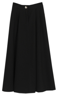 Prom Pin Tuck Long Skirt
