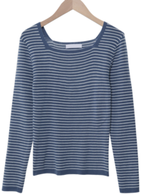 Candy Stripe Square Knit