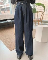 Deepk double pintuck denim pants
