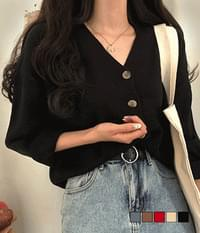 Nori V button cardigan