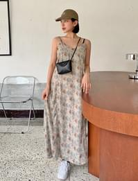Tree Sleeveless Long Dress