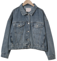 Groovy cropped denim jacket
