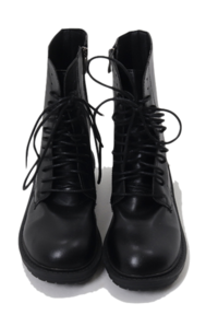 Black lace-up walker boots