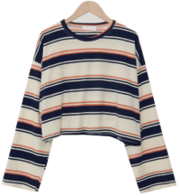 Candy Stripe Crop Long Sleeve Tee