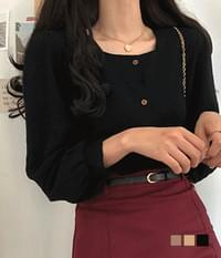 Wood Mar square-neck long-sleeved blouse