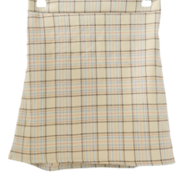 Terry check mini skirt