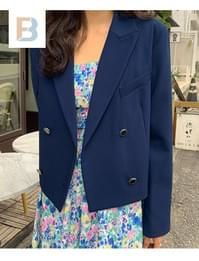 Ivy cropped double jacket